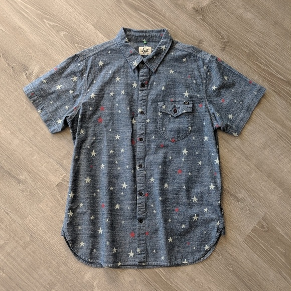 Lost Other - Lost Enterprises Denim Shirt with Stars